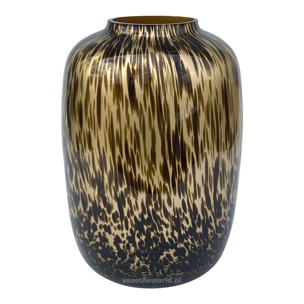 Vase The World: Artic Medium Gold Cheetah
